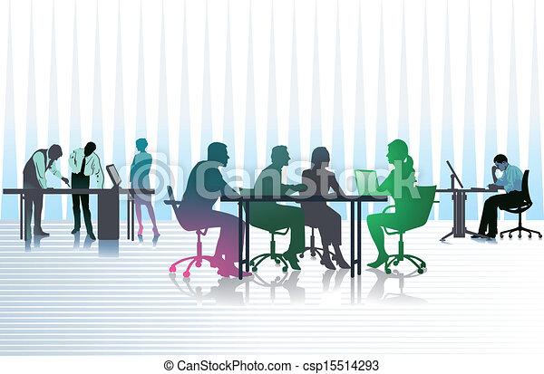 ビジネスオフィス, 人々 - csp15514293