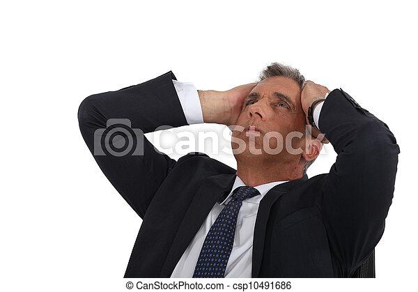 ビジネスマン, ストレスを感じさせられた - csp10491686