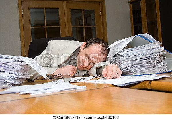 ビジネスマン, フェルト, 眠ったままで - csp0660183