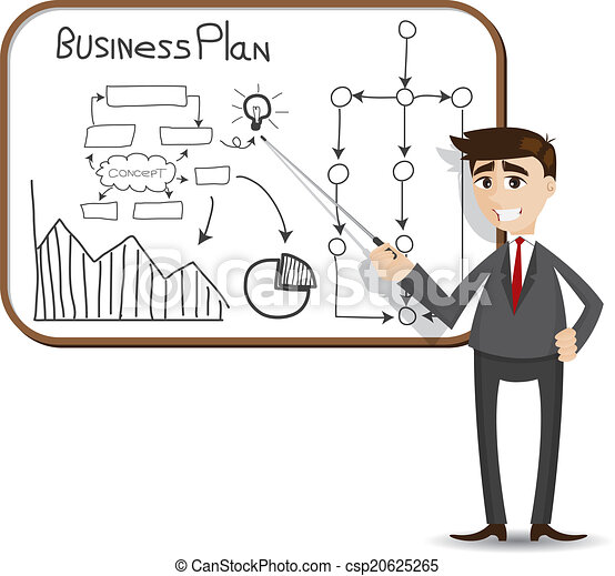 ビジネスマン, プレゼンテーション, 計画, ビジネス, 漫画 - csp20625265