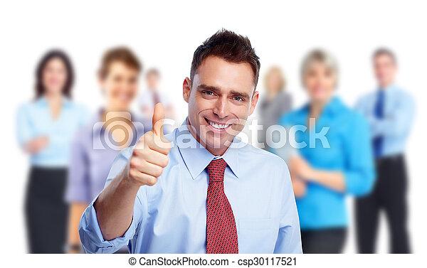 ビジネスマン, 人々。, グループ, 幸せ - csp30117521