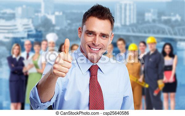 ビジネスマン, 人々。, グループ, 幸せ - csp25640586