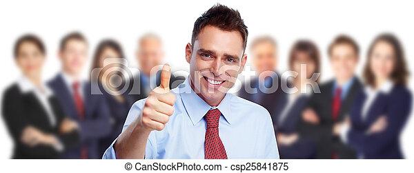 ビジネスマン, 人々。, グループ, 幸せ - csp25841875