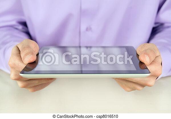 ビジネスマン, 保有物, タブレットの pc - csp8016510