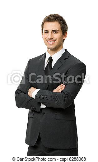 ビジネスマン, 半分長さ, 交差させた 腕, 肖像画 - csp16288068
