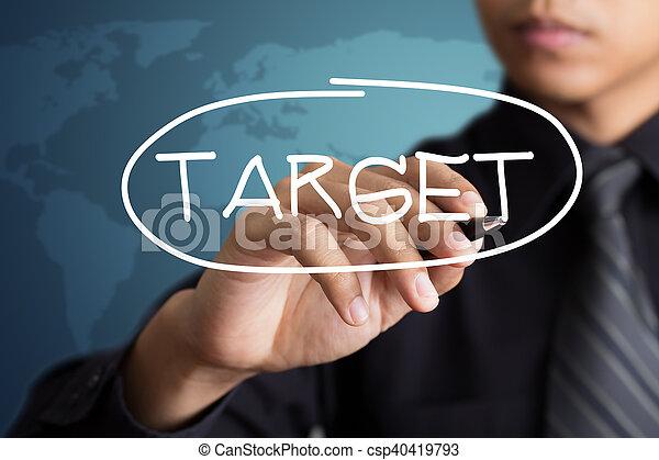 ビジネスマン, 単語, ターゲット, 執筆 - csp40419793