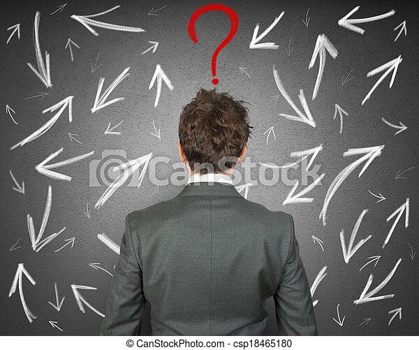 ビジネスマン, 困難, 選択 - csp18465180