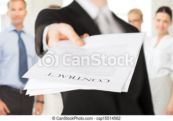 ビジネスマン, 契約 - csp15514562