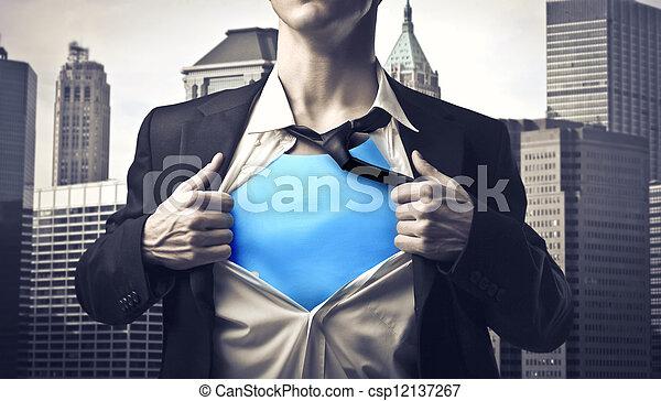 ビジネスマン, 秘密, 英雄 - csp12137267