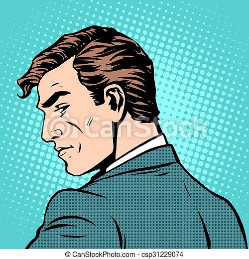 ビジネスマン, 紳士, 顔つき, 背中 - csp31229074