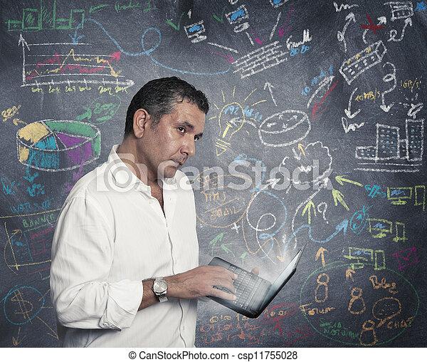 ビジネスマン, 考え, ビジネス, 新しい - csp11755028