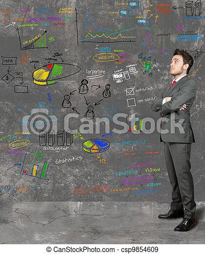 ビジネスマン, 考え, 新しい - csp9854609