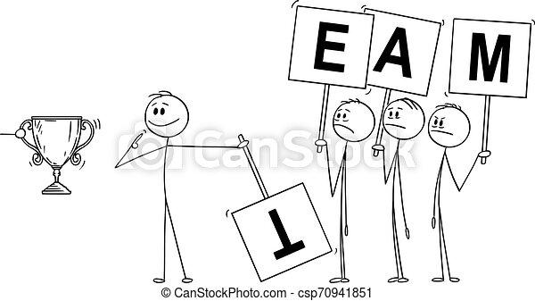 ビジネスマン, 要求, 利点, ∥あるいは∥, ベクトル, チーム, instead, 貢献, そっくりそのまま, 漫画, 人 - csp70941851