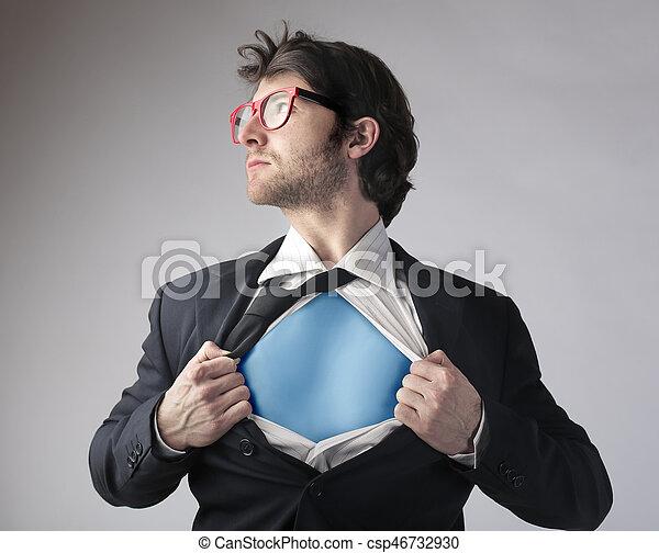 ビジネスマン, superhero, 衣装 - csp46732930