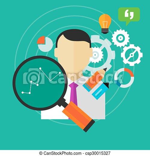 ビジネス, パフォーマンス, 改善, 人, 測定, 従業員, kpi, 改良しなさい - csp30015327