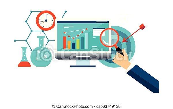 ビジネス, マーケティング, 分析, イラスト, ベクトル, インターネット, 管理 - csp63749138