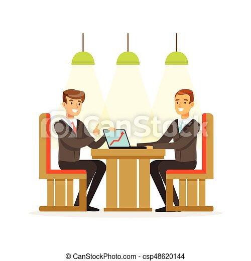 ビジネス モデル 人々 考え 経験 Coworking ベクトル イラスト