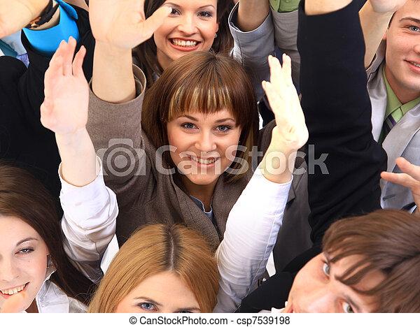 ビジネス, 上に, 背景, 人々。, グループ, 大きい, 白 - csp7539198