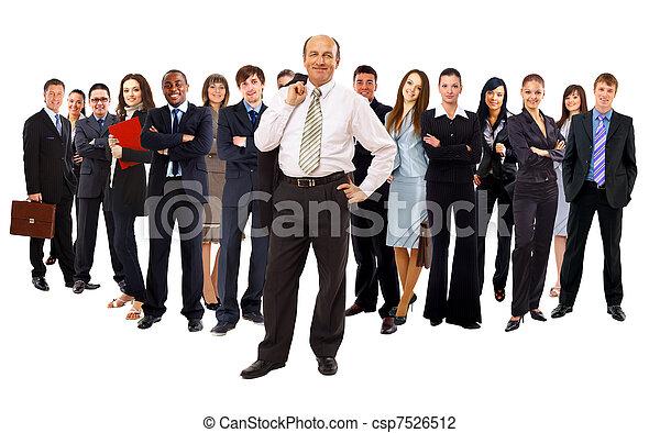 ビジネス, 上に, 背景, 隔離された, 人々。, グループ, 白 - csp7526512
