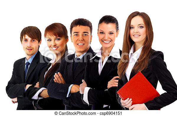 ビジネス, 上に, 背景, 隔離された, 人々。, グループ, 白 - csp6904151