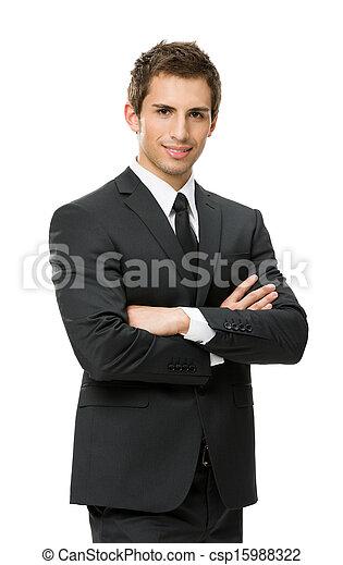 ビジネス, 交差させた手, 肖像画, 半分長さ, 人 - csp15988322