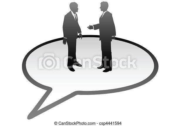 ビジネス 人々, コミュニケーション, 中, スピーチ泡, 話 - csp4441594