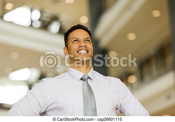 ビジネス, 年齢, 経営者, 中央の, の上, 見る - csp26601115