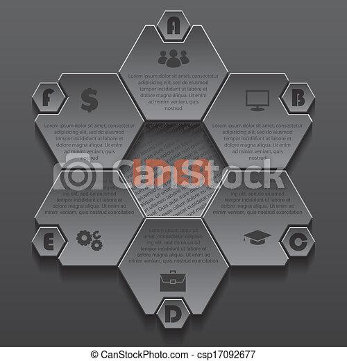 ビジネス, 現代, デザイン, テンプレート, infographics, プレゼンテーション - csp17092677