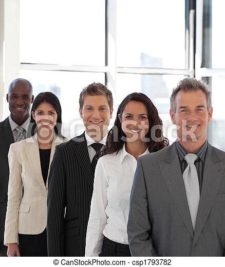 ビジネス, 若い見ること, カメラ, チーム, 幸せ - csp1793782