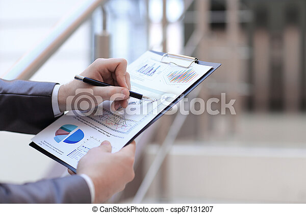 ビジネス, 財政, up.businessman, concept., 終わり, 点検, statement. - csp67131207