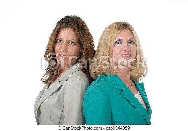 ビジネス 3, 女性, 2, 背中 - csp0344059