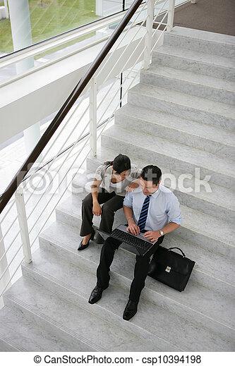 ビジネス, stairwell, 人々 - csp10394198