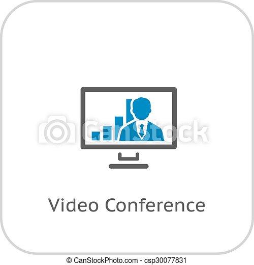 ビデオ会議, icon. - csp30077831