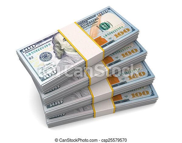 ビルズ, 千, ドル, 40, 百ドル - csp25579570