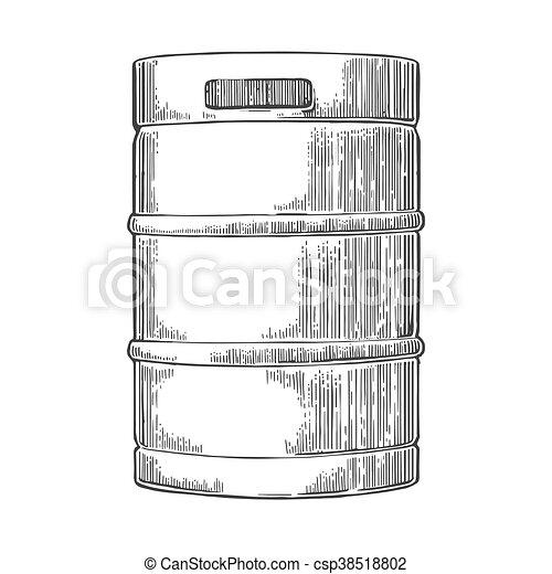 ビール, keg., 金属 - csp38518802