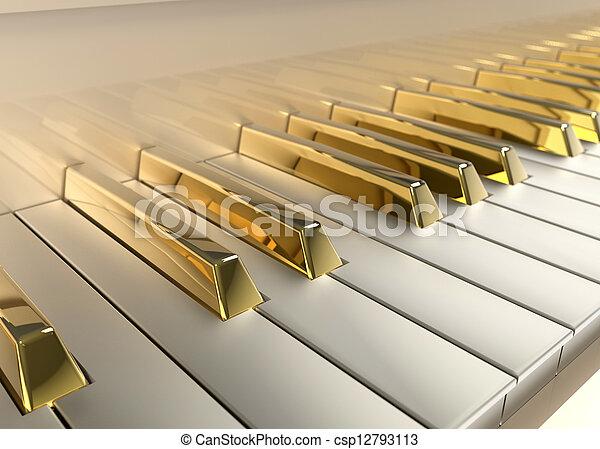 ピアノ, 金 - csp12793113
