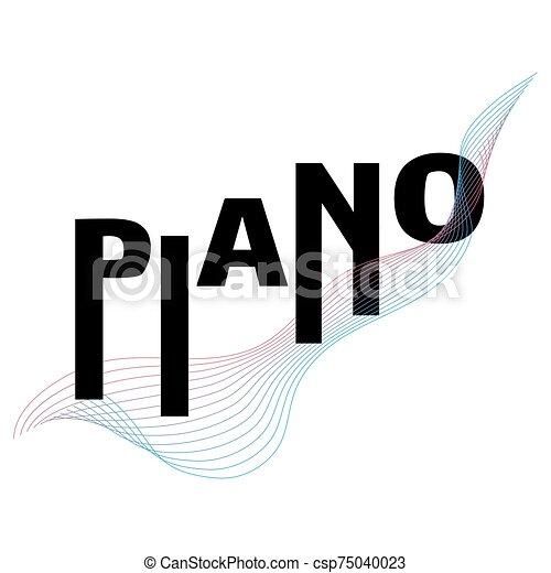ピアノ, 音楽, vector., 活版印刷, 祝祭, テンプレート, ポスター - csp75040023