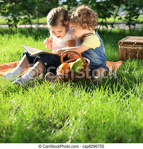 ピクニック, 子供 - csp8296755