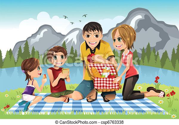 ピクニック, 家族 - csp6763338