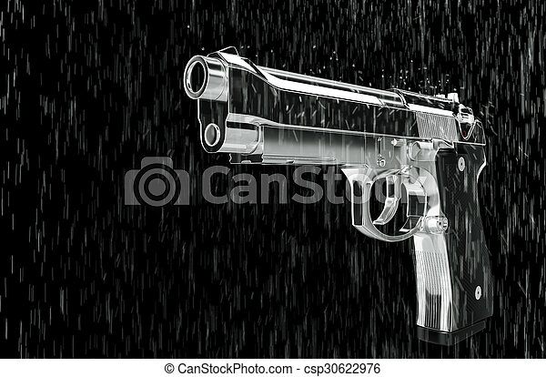 ピストル, rain. - csp30622976