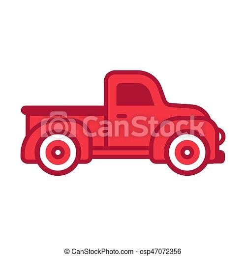 ピックアップ トラック, レトロ - csp47072356