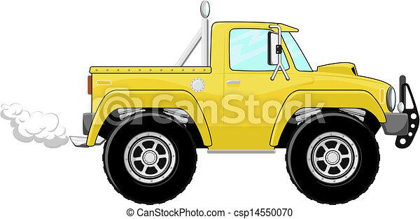 ピックアップ トラック, 漫画 - csp14550070