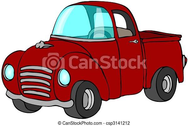 ピックアップ トラック, 赤 - csp3141212