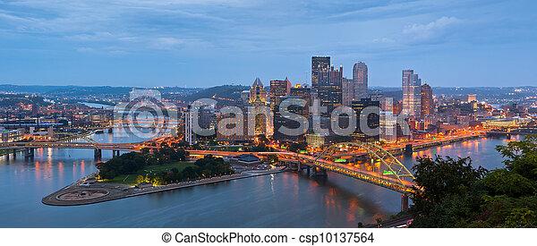 ピッツバーグ, スカイライン, panorama. - csp10137564