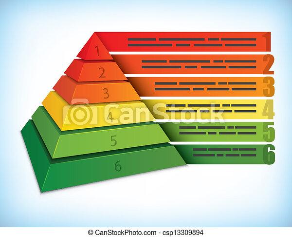 ピラミッド形, 概念, プレゼンテーション - csp13309894