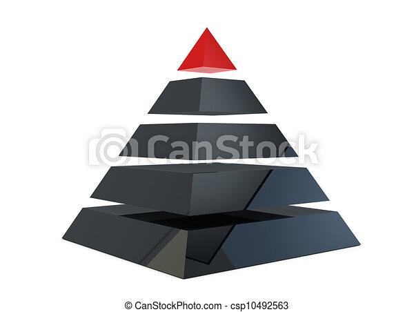 ピラミッド, イラスト - csp10492563