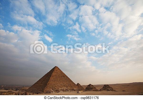 ピラミッド, エジプト人 - csp9831176