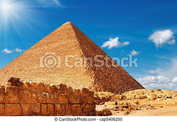ピラミッド, エジプト人 - csp5406250