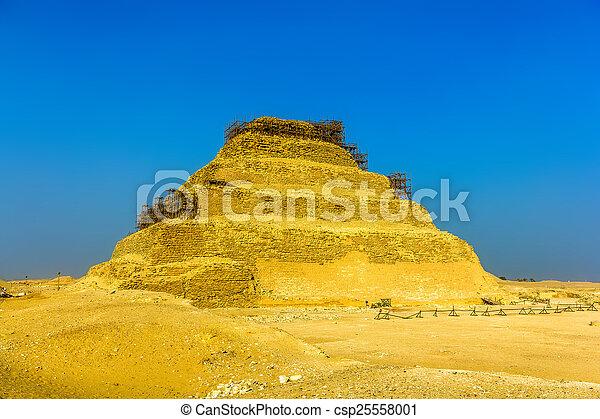ピラミッド, エジプト, -, djoser, ステップ, saqqara - csp25558001