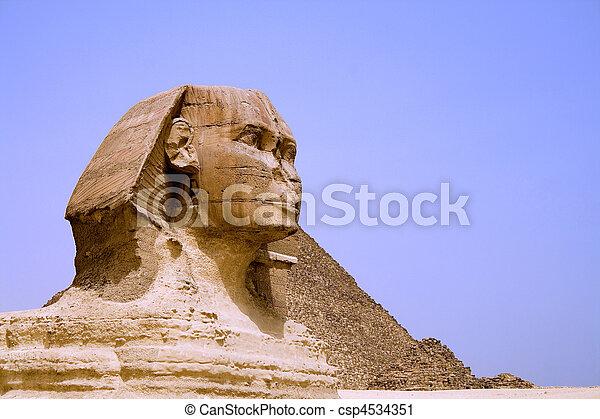 ピラミッド, スフィンクス, エジプト人 - csp4534351